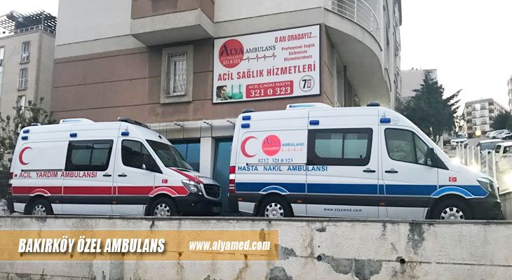 bakırköy özel ambulans