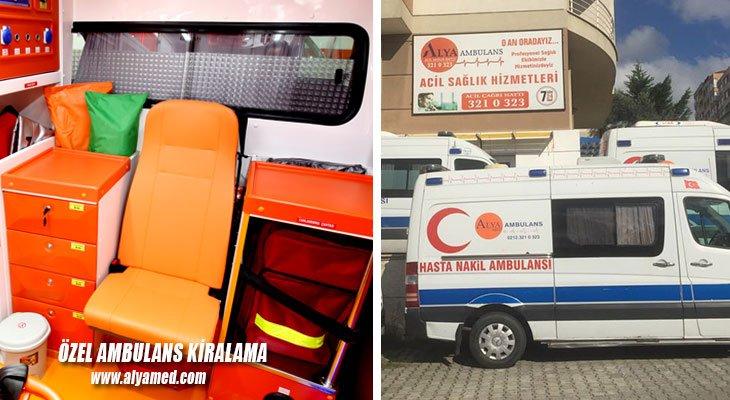 özel ambulans kiralama