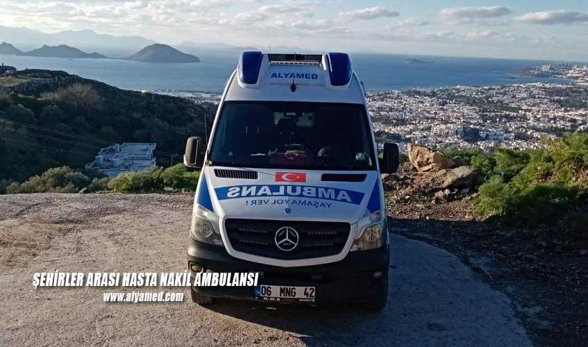 şehirler arası hasta nakil ambulansı