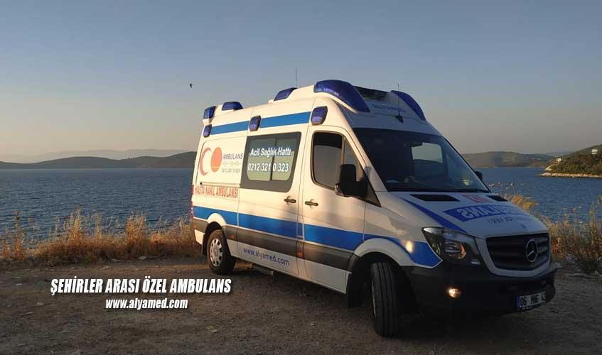 şehirler arası özel ambulans